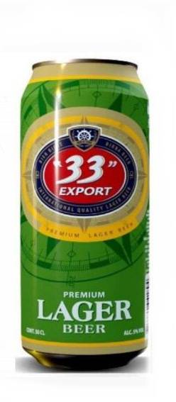 33 Export Lager Beer Can 50 cl x6