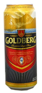 Goldberg Premium Lager Beer Can 50 cl x6
