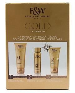 Fair & White Gold Ultimate Revitalizing Brightening Kit For Face Fantasea Facial Treatment Brush / Small 6 (FSC190)