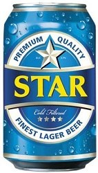 Star Lager Beer Can 33 cl x6